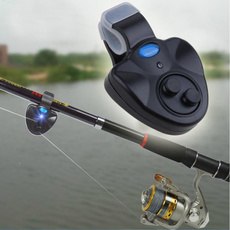 Mini 6x8x2.3cm Fishing Sound-light Alarm Device Alert Bell Clip-On Fishing Rod E