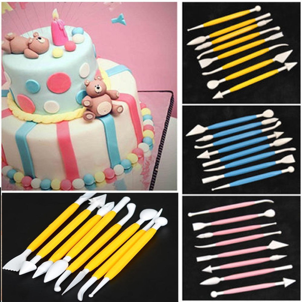 Picture of 8pcs 16 Patterns Fondant Cake Decorating Flower Sugar Craft Modelling Tools Clay