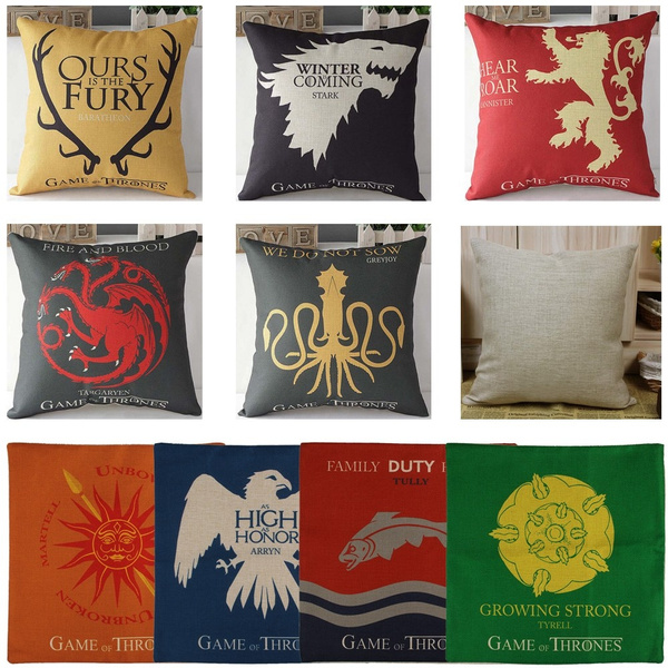 Game Of Thrones Home Decor.Game Of Thrones House Sigils Home Decor Car Decoration Flat Pillow Case Cushion Cover