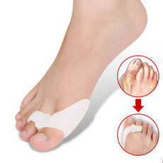 1Pair Silicone Gel foot fingers Two Hole Toe Separator Thumb Valgus Protector Bunion adjuster Hallux Valgus Guard feet care
