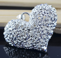 Antique, Heart, Ball, 925 sterling silver