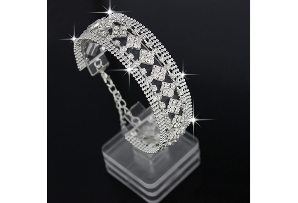 Fashion Wedding Crystal Bracelet jewelry Hand-woven Beads Rhinestone bracelets for women