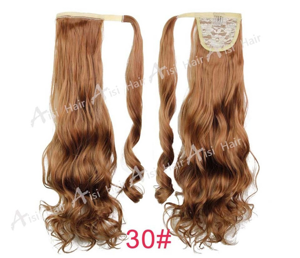 Wish Synthetic Long Wavy Clip In Wrap Around Ponytail Fake Hair