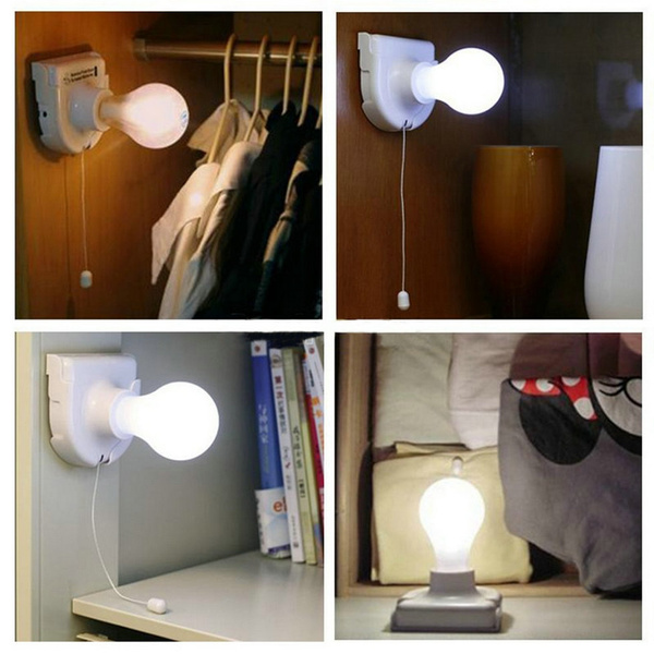 Picture of Stick Up Bulb Cordless Battery Operated Light Cabinet Closet Lamp Home Usebatteries Not Included Color White