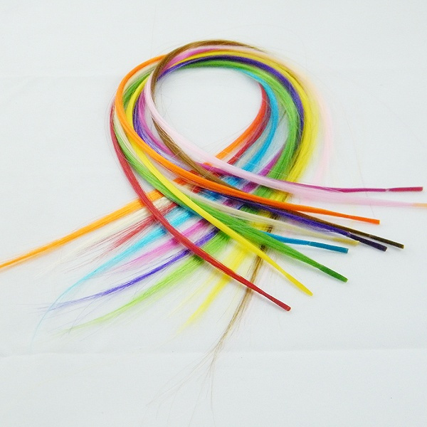 Wish 120 Pcs Diy Solid Feather Hair Extensions Free Hook Beads