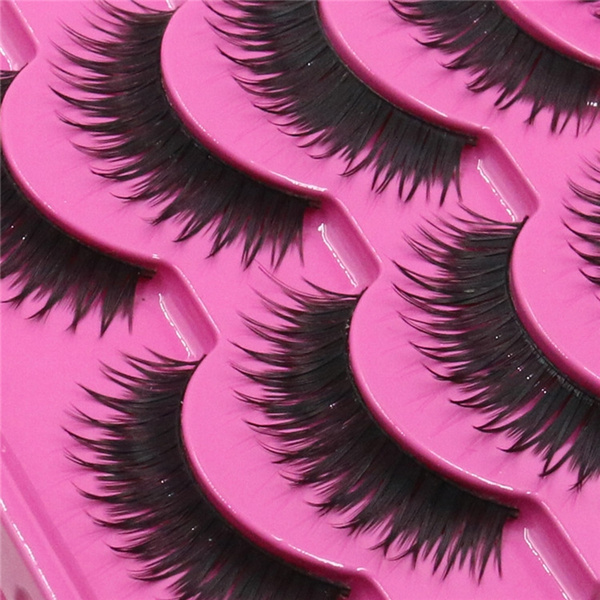 Picture of 5 Pairs Luxury Party Makeup Soft Long Thick False Eyelashes Lashes Extension N0414