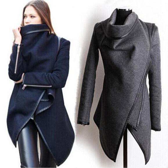 Turn-down Collar, woolen, Outerwear, Long Sleeve