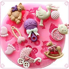 Silicone Baby Shower Fondant Cake Chocolate Baking Mold Mould Decorating