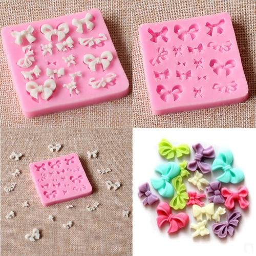 Silicone Fondant Decorating Bowknot Cake Mould Mold Baking Tool
