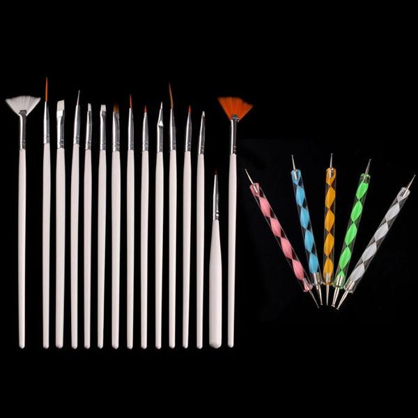 Picture of 20pcs Nail Art Design Dotting Painting Drawing Polish Brush Pen Tools