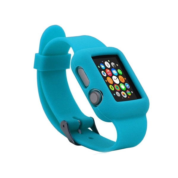 finest selection 10868 e2c7b Replacement iWatch Band Case,iWatch Apple Watch Full Protective Silicone  Case Watchband Case,Silicone Apple Watch Band Strap Case, Sport Band Case  ...
