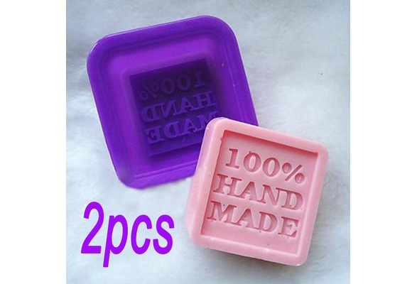 HOT DIY 2PCS 100% Hand Made Silicone Soap Molds Making Mould Rectangle Stand New