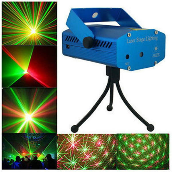 Picture of Led Rg Laser Projector Stage Lighting Disco Dj Party Bar Club Effect Light Us/uk/eu/au Plug