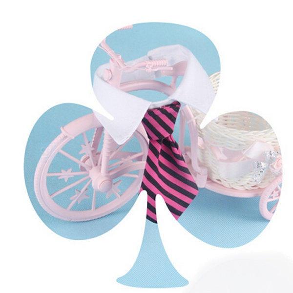 Fashion Dog Cat Striped Bow Tie Collar Pet Adjustable Neck Tie White Collar for Tuxedo