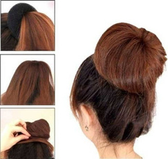 3 Pcs Sponge Women Girl Hair Bun Ring Donut Shaper Hair Styler Maker 3 Sizes