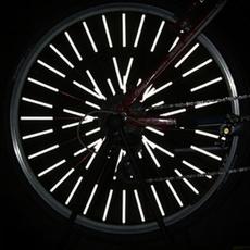 12 PCS Cycling Wheel Rim Spoke Bike Mount Tube Warning Light Strip Safety Reflector