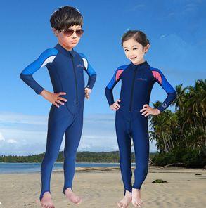 4f3c404bd swimming dress Kids boys girls snorkeling clothing children's sun ...