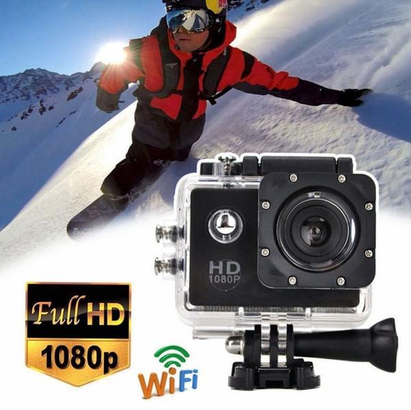 Picture of 12mp Full Hd 1080p Helmet Sports Action Car Camera Wifi Sj4000 30m Waterproof Color Black