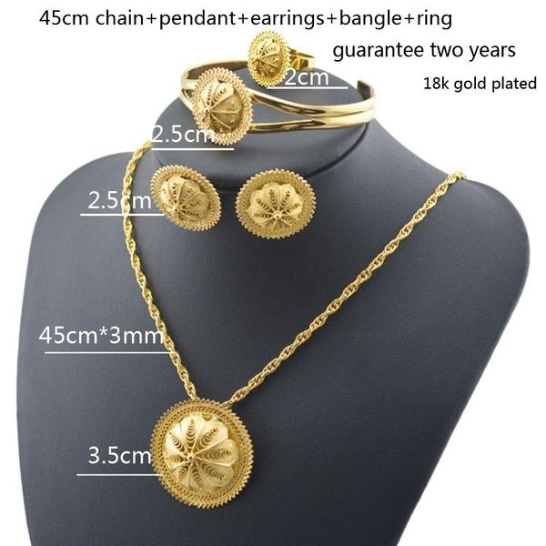 Wish Ethiopian jewelry 18k Gold Plated Habesha Jewelry wedding