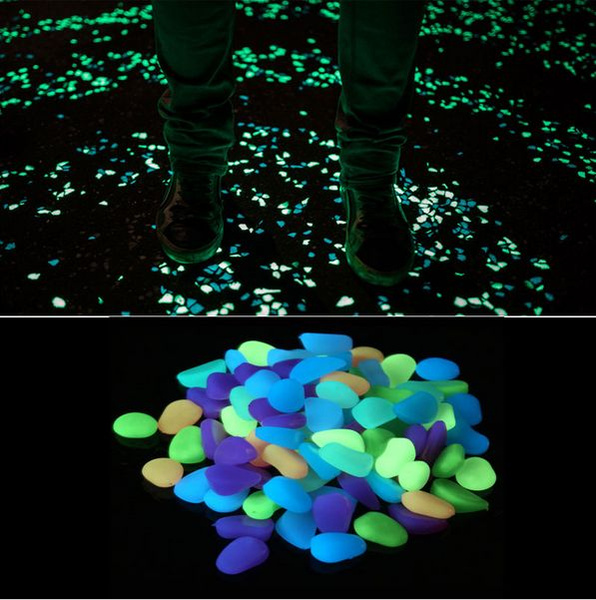 Picture of 10 Pcs New Colorful Glow In The Dark Stones Pebbles Rock For Fish Tank Aquarium
