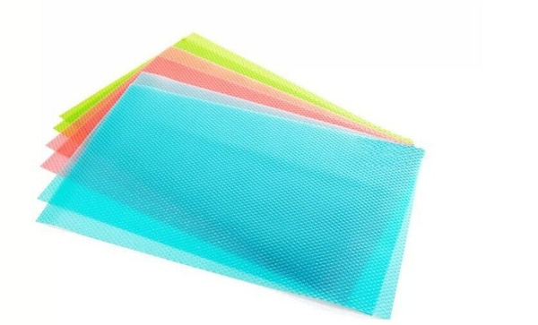 4pcs Fashion Can be cut Refrigerator pad Antibacterial antifouling Mildew Moisture absorption Pad