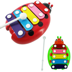 Toy Musical Instrument Baby Child Kid Colorful Modern 5-Note Xylophone Musical Toys Wisdom Development Beetle