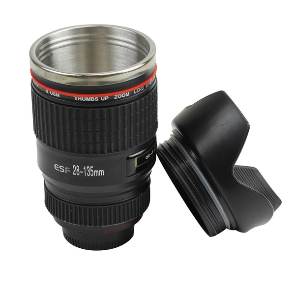 Ef Camera Stainless 28 135mm Travel Steel Caniam Lens Cup Coffee Mug xrodBCeW