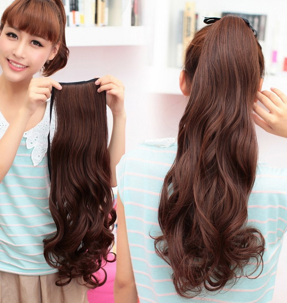Wish E07 High Temperature Silk Wig Japanese Fake Ponytail Hair