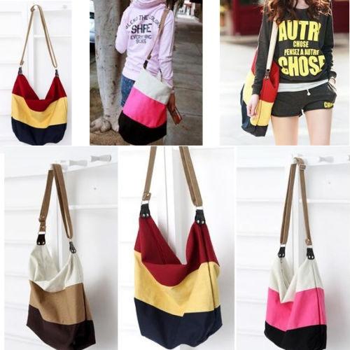 Picture of Women's Canvas Shoulder Bag Satchel Purse Messenger Handbag Crossbody Hobo