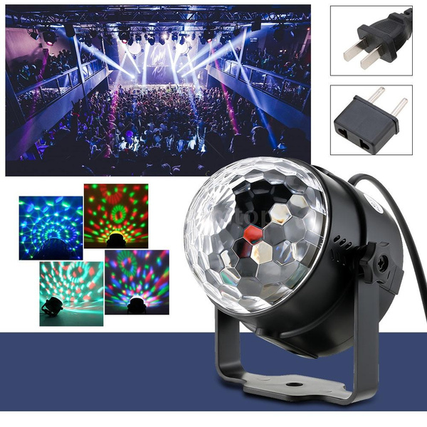 Picture of Auto Sound Activated 3w Rgb Led Mini Crystal Magic Rotating Ball Effect Led Stage Lights For Ktv Xmas Party Wedding Show Club Pub Disco Dj