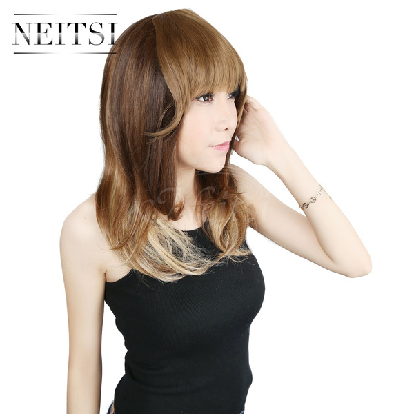 Wish Neitsi Clip In Synthetic Hair Bangs Fringe Hair Extension