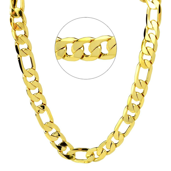 figaronecklace, cubanchainnecklace, Chain Necklace, Fashion