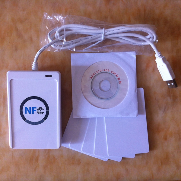 NFC ACR122U RFID Contactless Smart Reader & Writer/USB + SDK + 5xMF IC Card  for MAC Android Linux OS