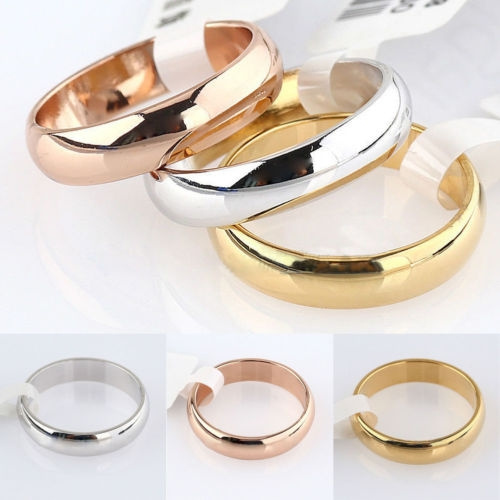 Picture of New Style Plain Band Engagement Wedding Ring Us Gold Silver Plated 1pc