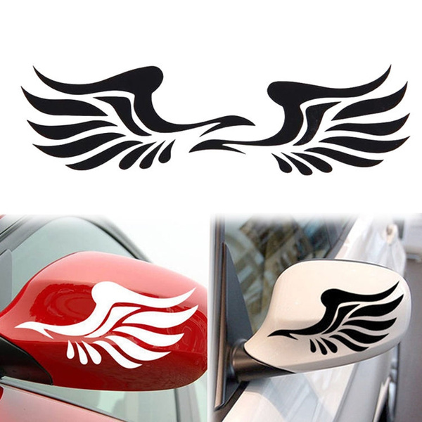1 Pair Personality Fire Wings Side Mirror Car Stickers Decorative