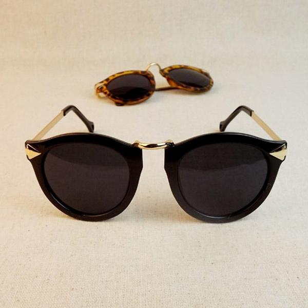 Picture of Women's Unisex Sunglasses Round Sunglasses Arrow Style Metal Frame Eyeglasses