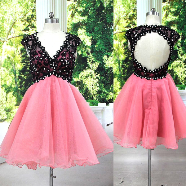 New Fashion Real Photo A Line Beaded Normal Party Dress Cocktail