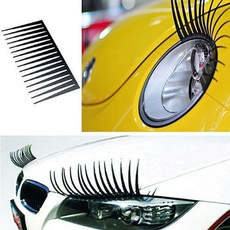 2Pcs Cute Car Headlight Eyelash Sticker 3D Decoration Truck Lighting Decals New Practical