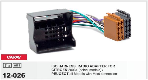 Radio Adapter CARAV 12-003 ISO Adapter Cable