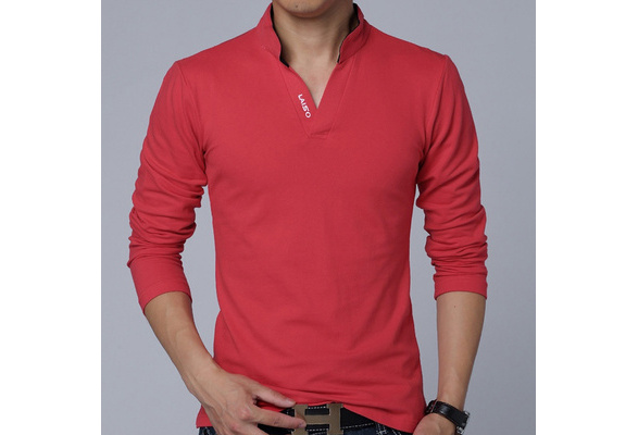 New Fashion Long Sleeve Polo Shirt Men Slim Fit Casual Cotton T-Shirt for Men, Polo homme