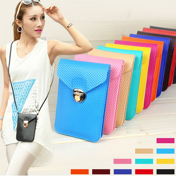 Picture of Women Pu Leather Mini Mobile Phone Bag Handbag Money Purse
