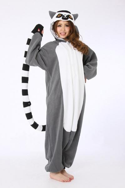 wish one piece adult lemur cosplay pajamas animal onesies pyjamas anime halloween lemur cosplay costume jumpsuit