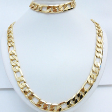 24kgold, yellow gold, Chain Necklace, Jewelry