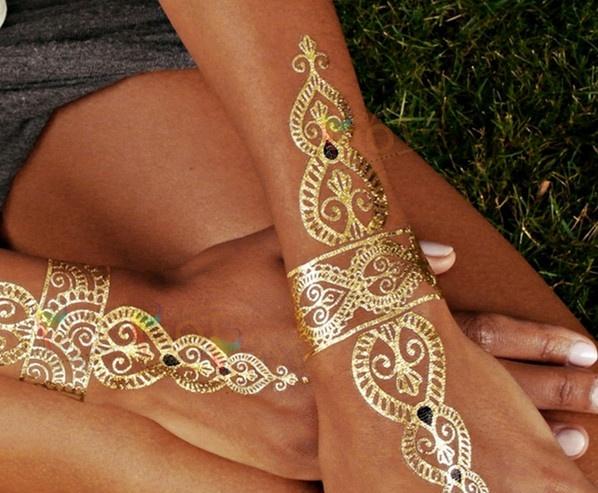 Henna Mehndi Stickers : Souq diy henna stencil tattoo sticker uae