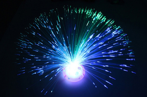 Picture of Hot Home Decoration Starry Fiber Flash Colorful Led Fiber Optic Light Blue Stand Lamp