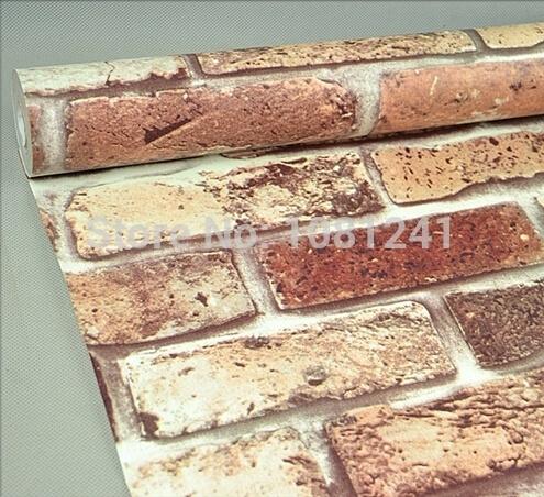 wish 10m 3d embossed brick pattern self adhesive pvc wallpaper living room background stick wall paper home decorlqx