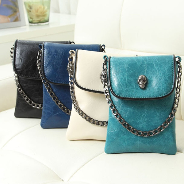 Picture of Women Pu Leather Crossbody Shoulder Bag Tote Satchel Mini Skull Handbag