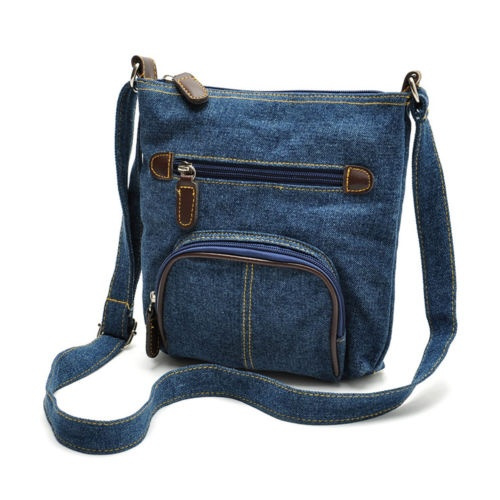 Picture of Ladies Denim Jean Shoulder Tote Messager Bag Hobo Purse Womens Cross Body Bag Satchel