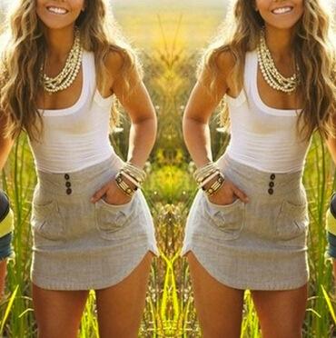 Mini, Dress, summer dress, Grey