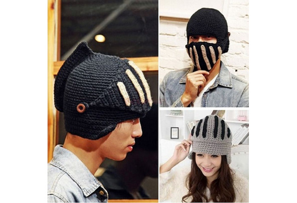 Cool Womens Men Buttons Knit Winter Warm Ski Beanie Wool Roman Knight Hat Cap